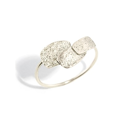 skin small silver ring