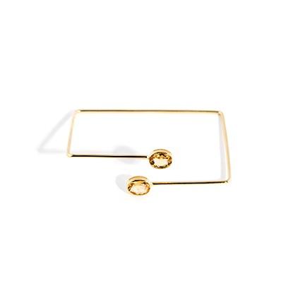 citrine square bracelet